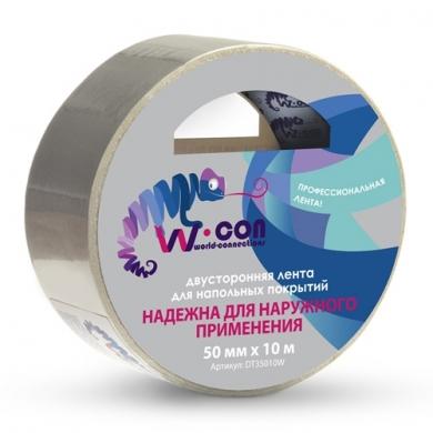 Двусторонняя лента для напольных покрытий.  Надежна для наружного применения.