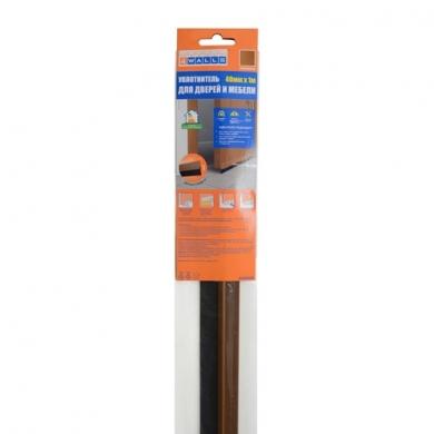 Уплотнитель для дверей и мебели 40мм x 1м, прочный профиль.