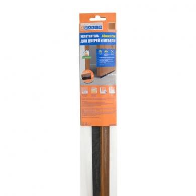 Уплотнитель для дверей и мебели 35мм x 1м, плотная щетка.