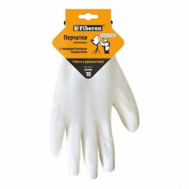Перчатки нейлоновые с полиуретановым покрытием антистатические Fiberon