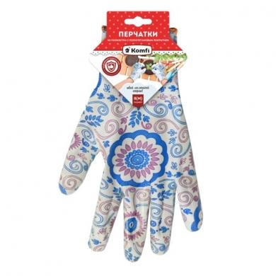 Перчатки из полиэстера с полиуретановым покрытием