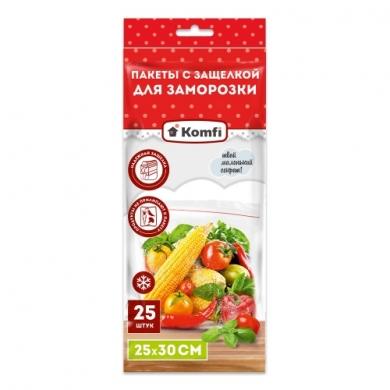 Пакет для заморозки 25смх30см Komfi по 25шт