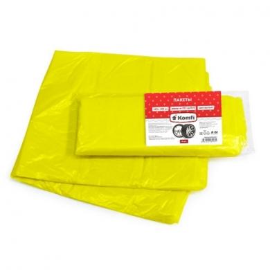 Пакеты для шин полиэтиленовые, 100*100 см, 4 шт, желтые