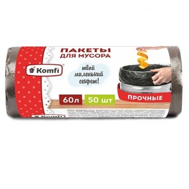 Пакет мусорный ПНД в рулоне 60л/50шт Komfi