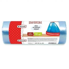 Пакет мусорный ПНД с длинными ручками  в рулоне 60л/30шт