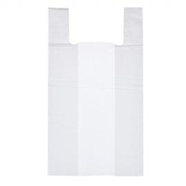 Пакет майка ПНД (Белая)  28см+14см*50см