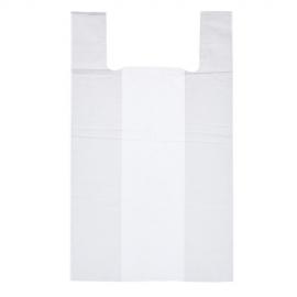 Пакет майка ПНД (Белая) 40см+18см*70см