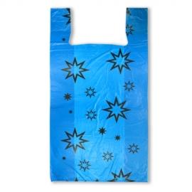 Пакет майка ПНД (Синяя) 38см+20см*72см