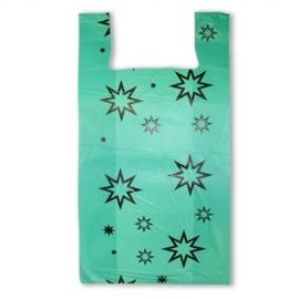 Пакет майка ПНД (Зеленая) 38см+20см*72см