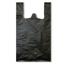 Пакет майка ПНД (Черная) 32см+18см*57см без рисунка