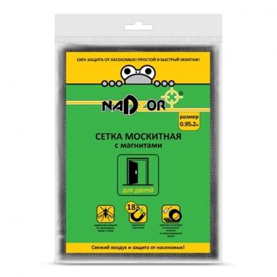 Сетка москитная 0,95*2м с магнитами черная в пакете Nadzor