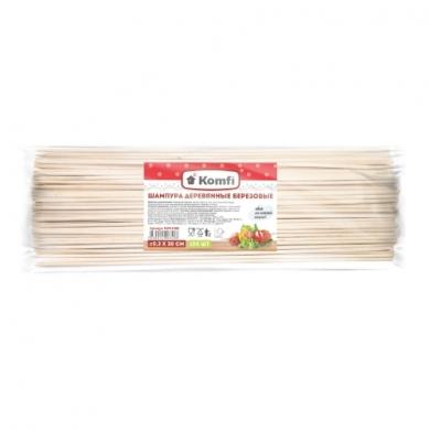 Шампура березовые, 100 шт/уп., Komfi