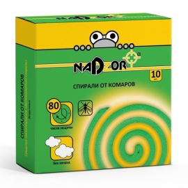 Спирали от комаров бездымные без запаха, 10шт./уп. Nadzor