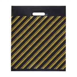 Пакет с прорубной ручкой ПВД (Золотая полоса) 40*45 см.